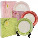 Набор фарфоровых тарелок Maestro MR 10009-04