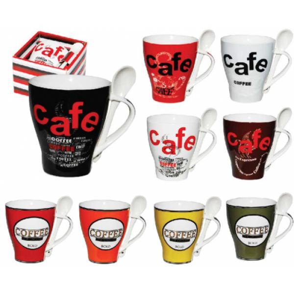 2063 Чашка с ложкой 400 мл Кофе