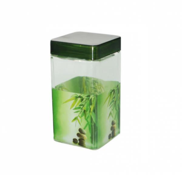 611 Емкость для сыпучих продуктов 1.1 л Зеленый бамбук