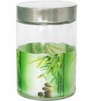 604 Емкость для сыпучих продуктов 1.1 л Зеленый бамбук