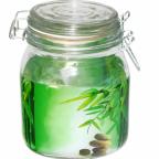 6141 Емкость для сыпучих на зажиме 1,1 л Зеленый бамбук