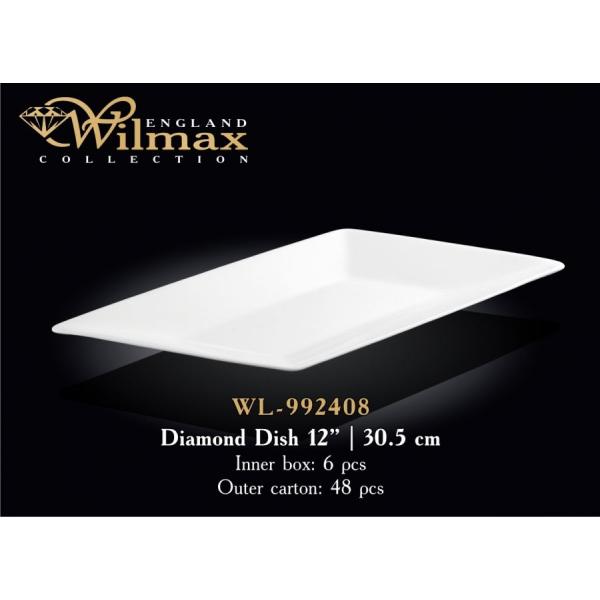 WL-992408 Тарелка-ромб 30,5 см.