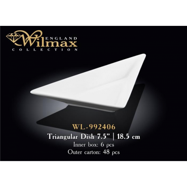 WL-992406 Блюдо треугольное 18,5см.
