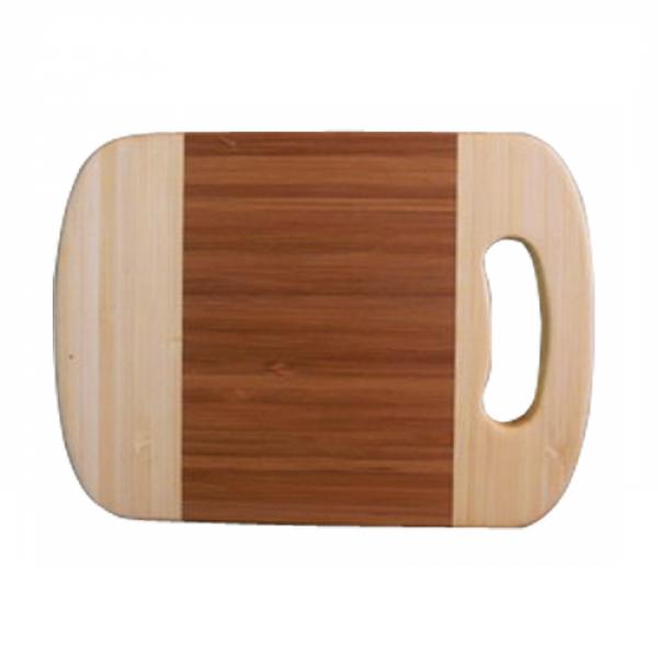 958 Доска разделочная бамбуковая с отверстием 20х15х1,5 см