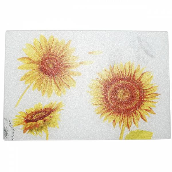 9552 Доска разделочная стеклянная 30х40х0,5 см Солнечный день
