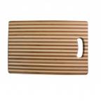 964 Доска разделочная бамбуковая с отверстием 30х20х1,9 см