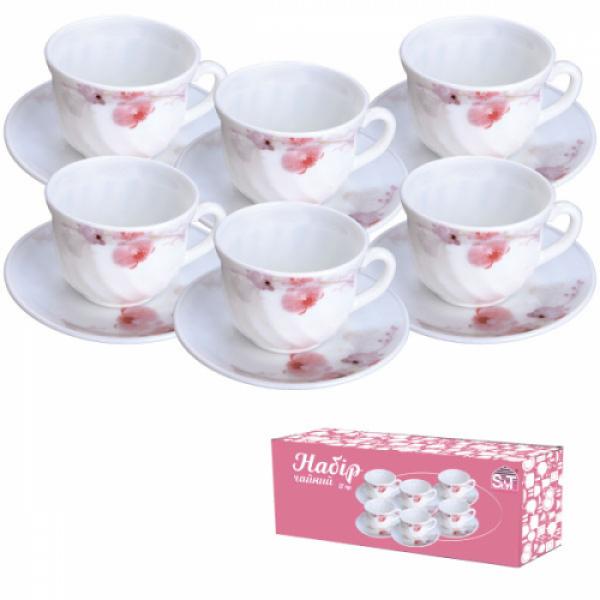 30055 Набор чайный 12 пр. (190 мл) Розовая орхидея