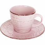 6112 Чашка Чашка с блюдцем 280 мл Античная розовая