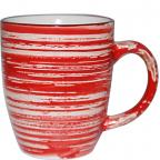 6115 Чашка 360 мл Пастель красная
