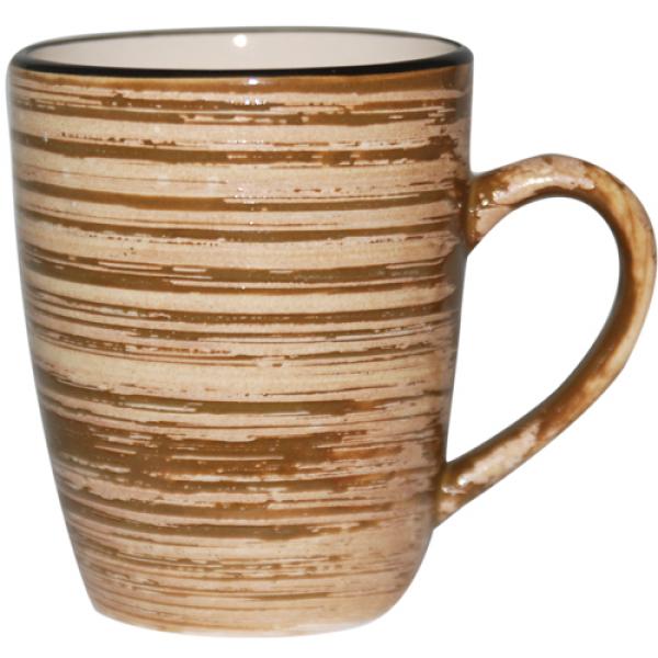 6115 Чашка 360 мл Пастель коричневая