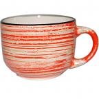 6114 Чашка 450 мл Пастель красная