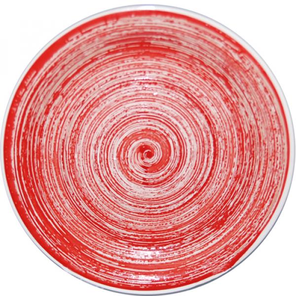 5113-2 Тарелка 19 см Пастель красная