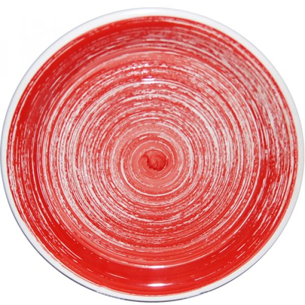 5113-1 Тарелка 26 см Пастель красная