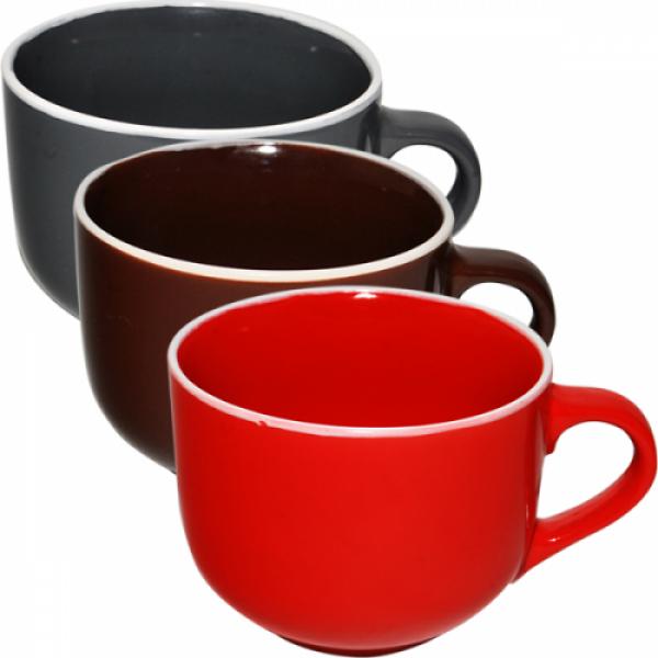 4168-4 Чашка 540 мл Микс белый ободок