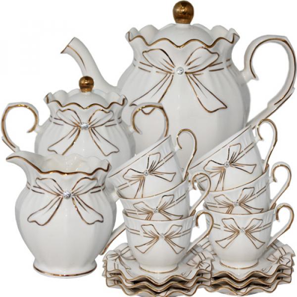 Сервиз чайный S&T 15 пр.(240 мл) Белый бант (022-15-01)